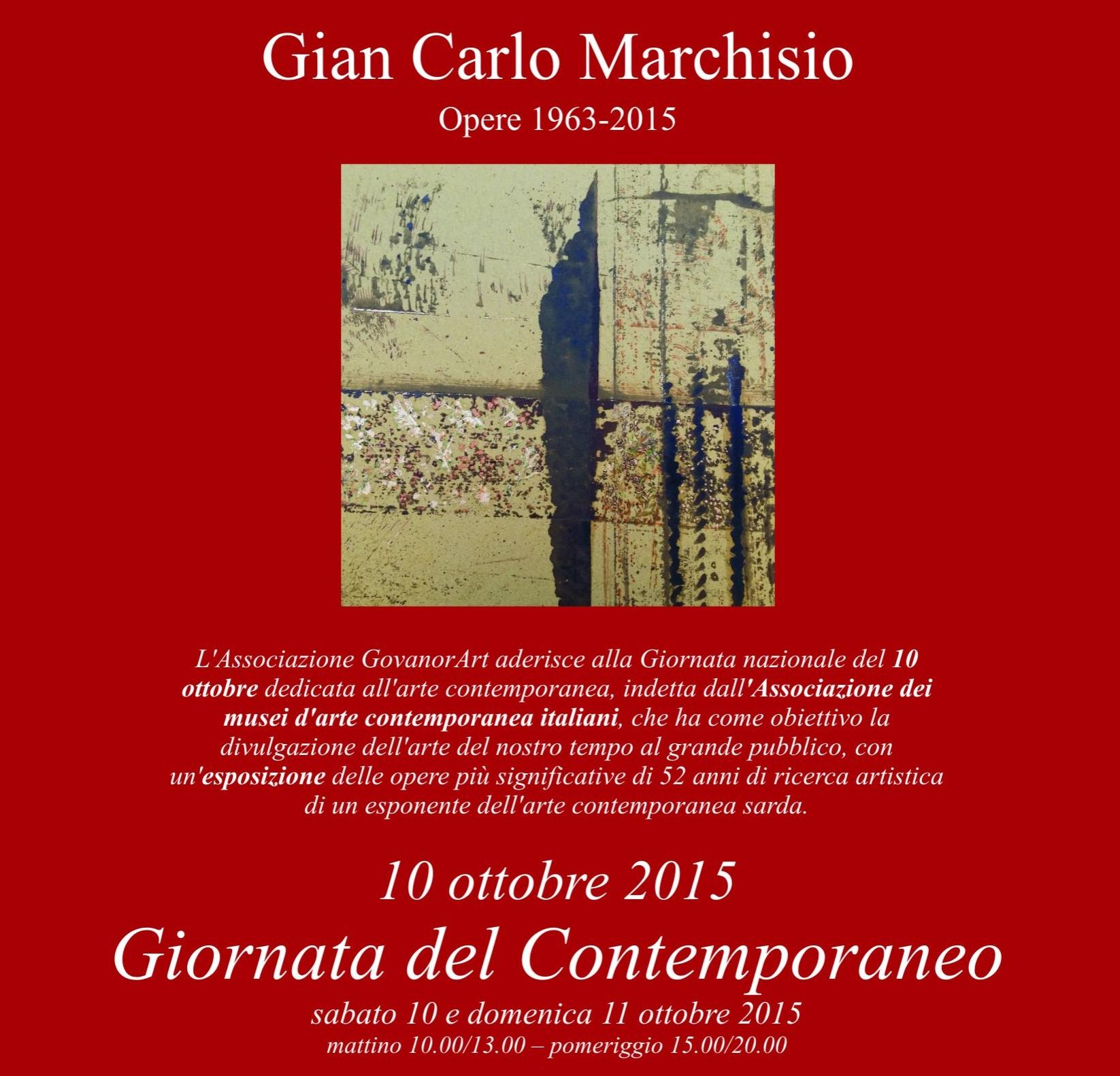 Gian Carlo Marchisio, opere 1963 – 2015